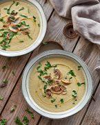 recette de velouté de champignons à la crème