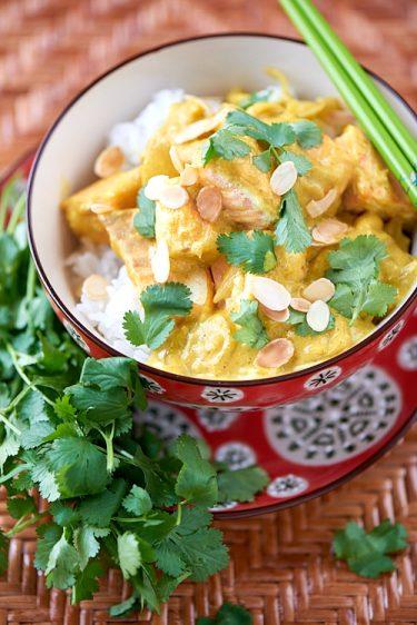 recette de curry de saumon