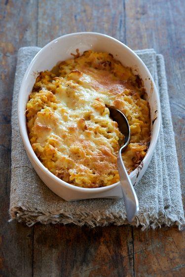 recette de gratin au butternut et riz
