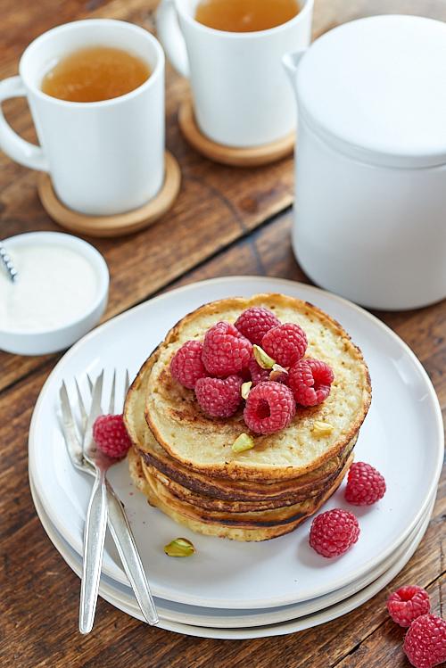 recette de Pancakes aux flocons d'avoine et lait de soja