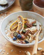 recette de porridge aux bananes rôties