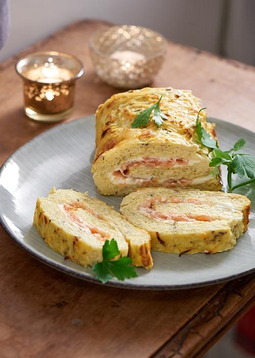recette de rouleau de pommes de terre au saumon fumé