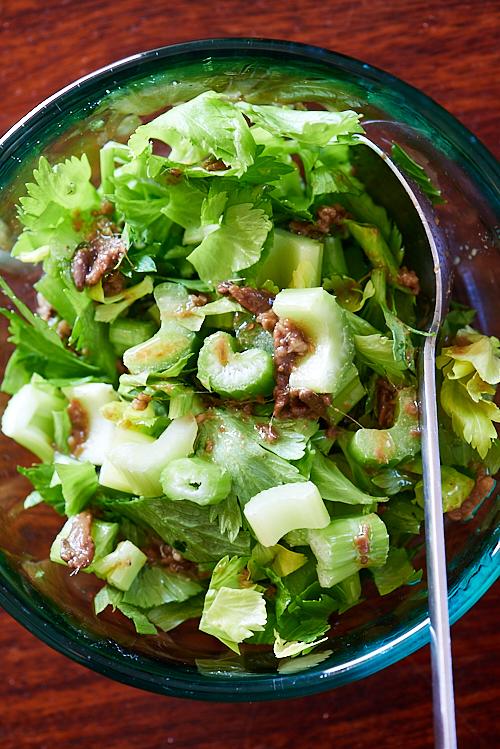 Salade de céleri aux anchois