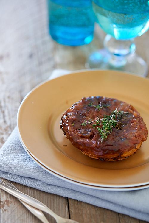 recette de tarte Tatin d'aubergines