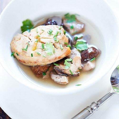 recette de bouillon thaie cèpes et foie gras
