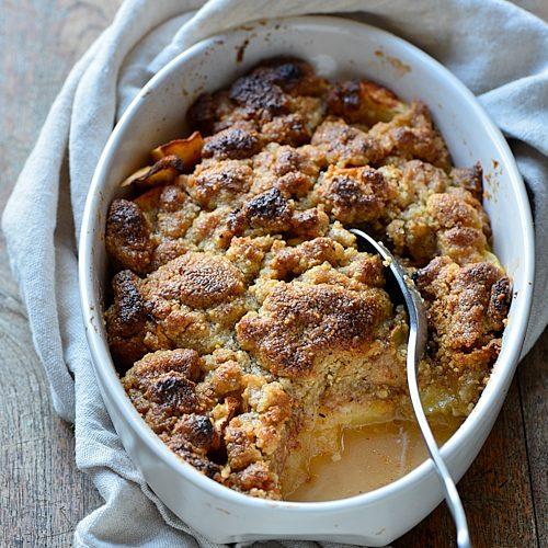 recette de crumble aux pommes du chat qui tousse