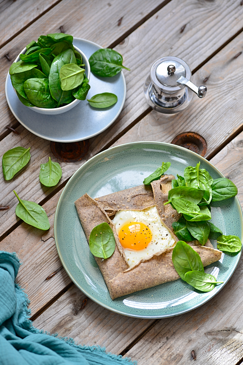 Galette oeuf fromage frais