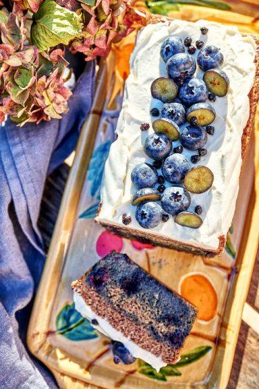 recette de Cake à la myrtille et creamcheese