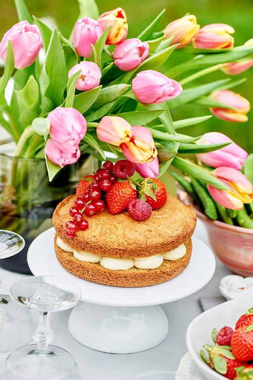 Sponge cake au chocolat blanc