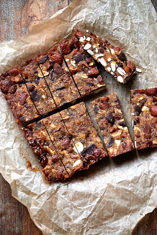 recette de barres aux amandes et au chocolat