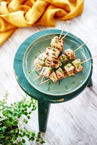 recette de brochettes de thon au miso