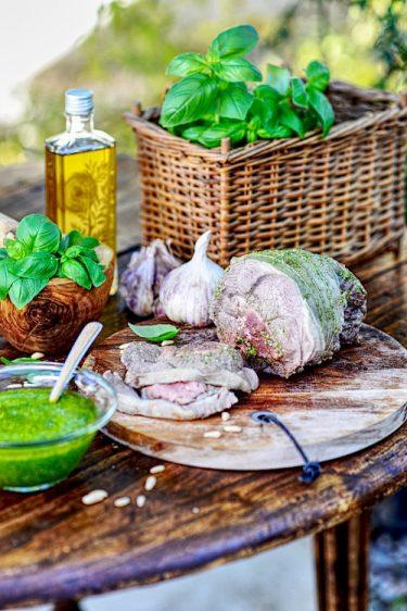 recette de gigot d'agneau cuit à la vapeur au pistou