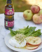 recette de mozzarella, pommes et curry