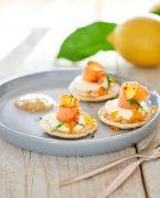 recette de blinis au saumon fumé