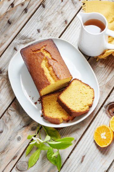 recette de cake à l'orange et à la farine de maïs