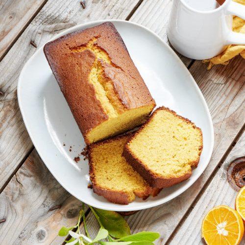 recette de cake à l'orange et farine de maïs