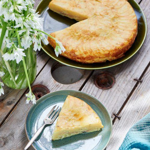 recette de gâteau de pommes de terre au magret fumé