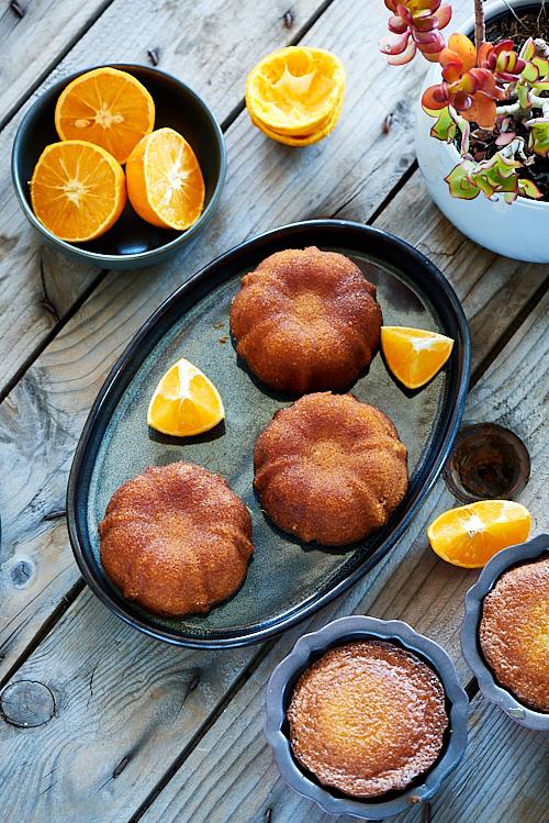 recette de Quatre-quarts à l'orange de Pierre Hermé sans gluten