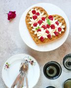 recette de gâteau à la pistache, chantilly au yuzu