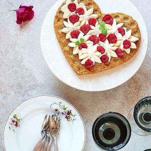 Gâteau à la pistache, chantilly au yuzu