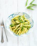 recette de penne aux asperges vertes et huile de persil