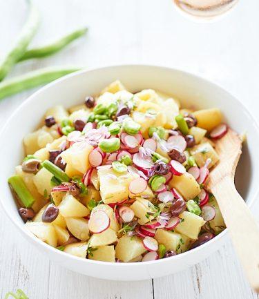 recette de salade de pommes de terre de printemps