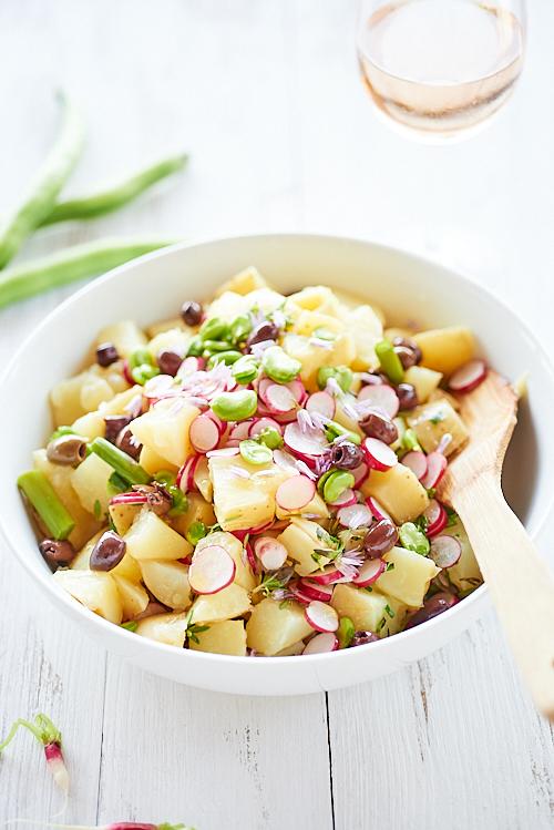 Salade de pommes de terre de printemps