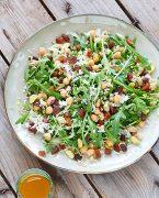 recette de salade de roquette et fruits secs