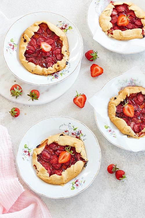 recette de tartes rustiques aux fraises