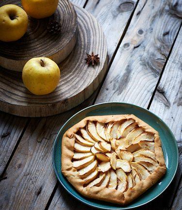 recette de tarte aux pommes rustique