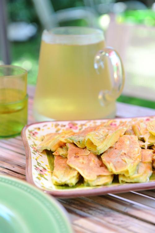 recette de beignets de fleurs de courgette
