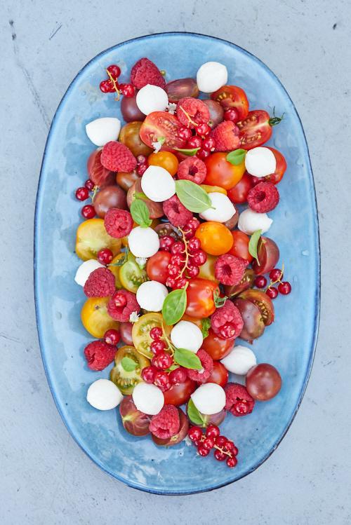 photo salade tomate framboise 1