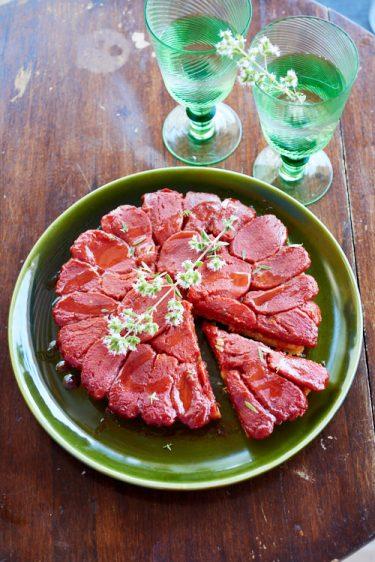 recette de tarte Tatin à la tomate du chef Zanoni