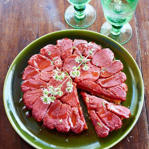 Tarte tatin à la tomate du chef S. Zanoni