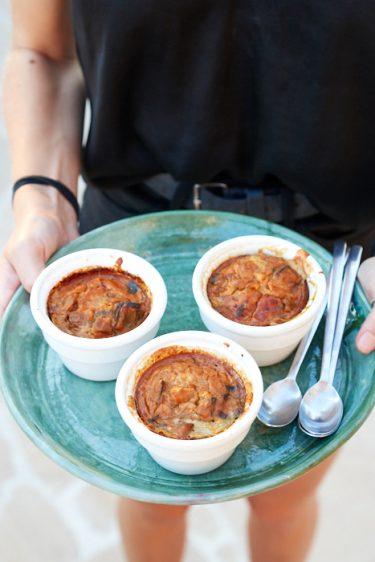 recette de petites terrines d'aubergine