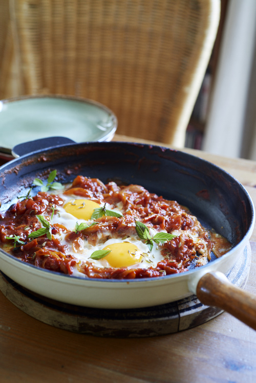 recette de chakchouka à la tomate