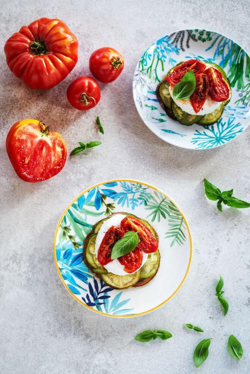 recette de millefeuille aux aubergines et aux tomates