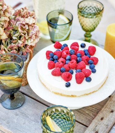 recette de cheesecake végétal aux fruits rouges
