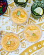 recette de soupe de tomates jaunes rôties