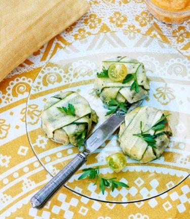 recette de terrine de courgette aux poivrons et aubergines