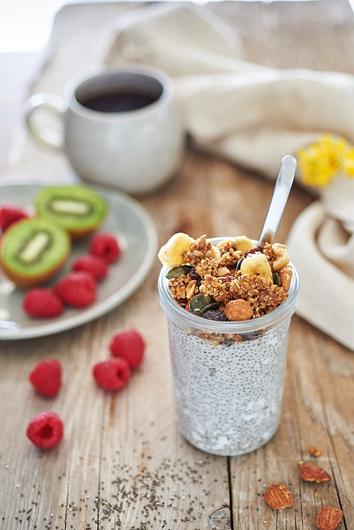 photo culinaire de chia pudding bio