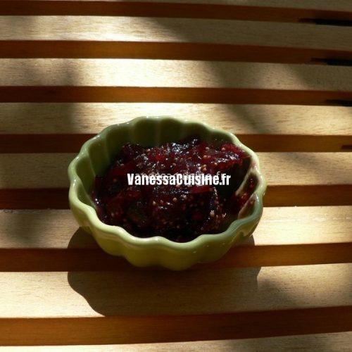 recette de chutney de figues fraîches