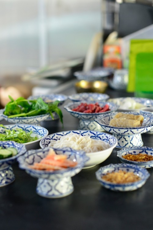 photo culinaire des ingrédients pour un bo bun