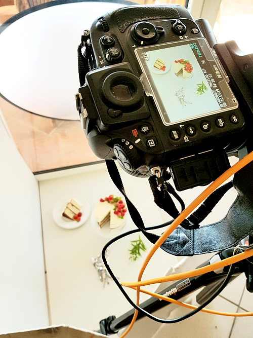 photo d'un back stage de shooting culinaire