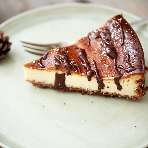 recette du cheesecake de Nicolas Lambert, sauce chocolat