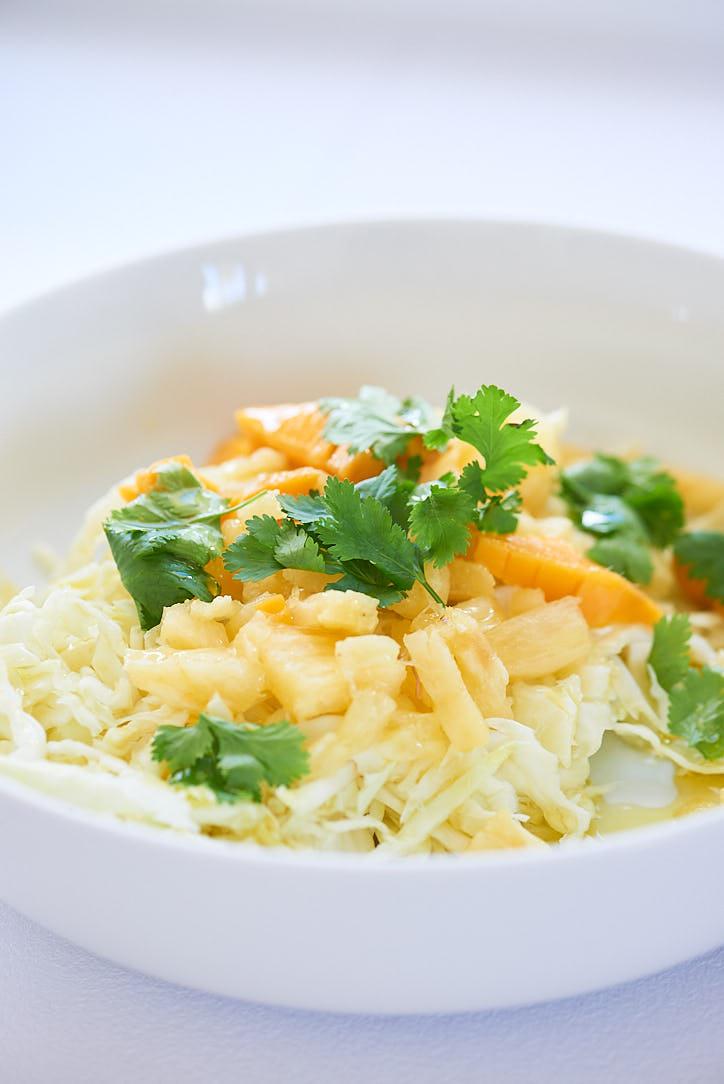 salade chou ananas mangue