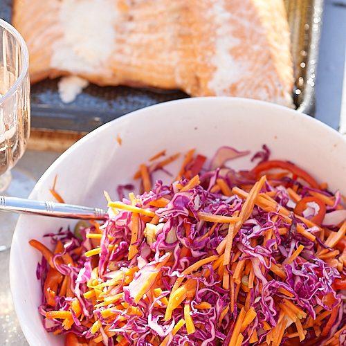 recette de salade de chou rouge japonisante