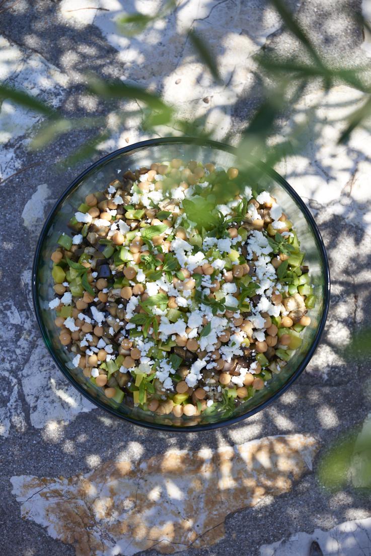 salade quinoa pois chiche feta