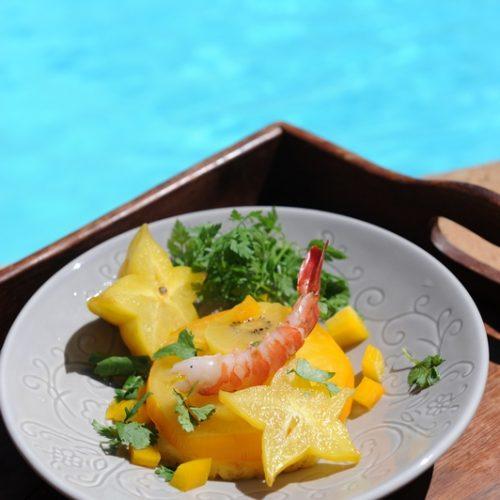 recette de salade de tomate, ananas et carambole