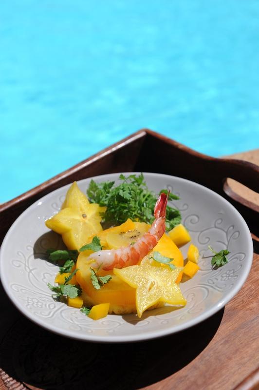 salade tomate ananas carambole